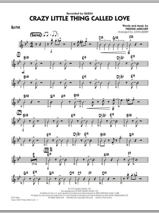 Crazy Little Thing Called Love - Guitar (Jazz Ensemble)