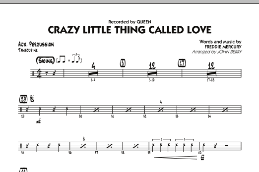Crazy Little Thing Called Love - Aux Percussion (Jazz Ensemble)