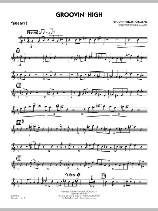 Groovin' High - Tenor Sax 1 (Jazz Ensemble)