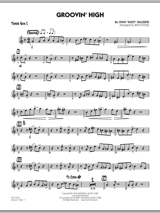 Groovin' High - Tenor Sax 2 (Jazz Ensemble)