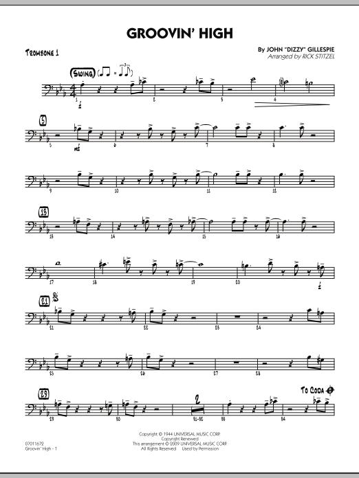 Groovin' High - Trombone 1 (Jazz Ensemble)