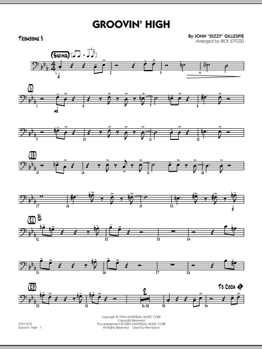 Groovin' High - Trombone 3 (Jazz Ensemble)
