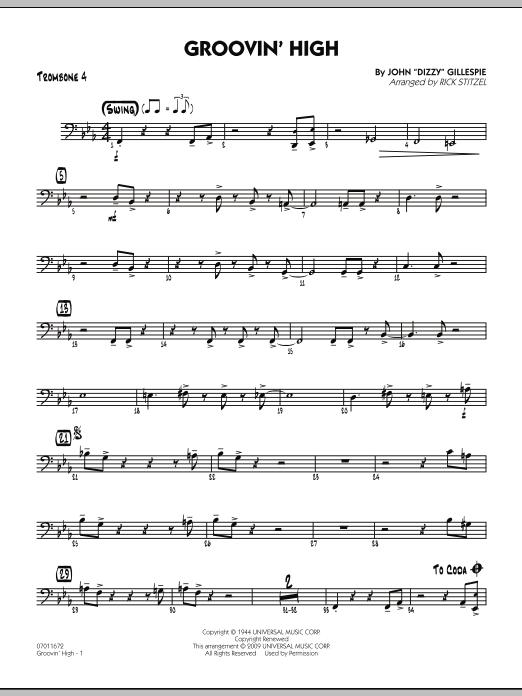 Groovin' High - Trombone 4 (Jazz Ensemble)