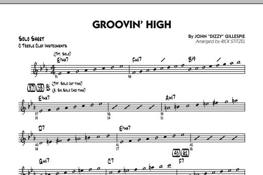 Groovin' High - C Solo Sheet (Jazz Ensemble)