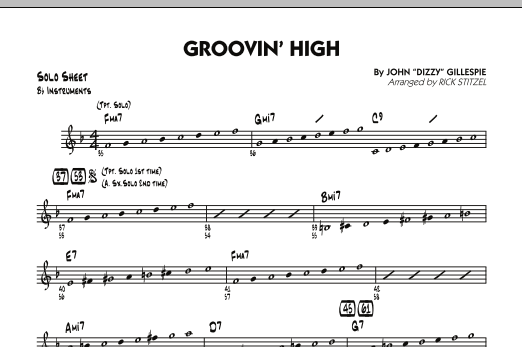 Groovin' High - Bb Solo Sheet (Jazz Ensemble)