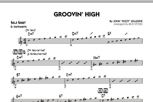 Groovin' High - Eb Solo Sheet (Jazz Ensemble)
