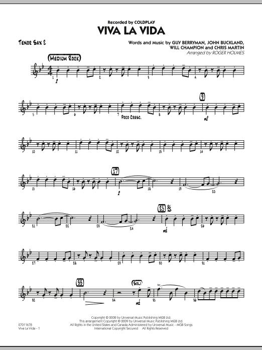 Viva La Vida - Tenor Sax 2 (Jazz Ensemble)