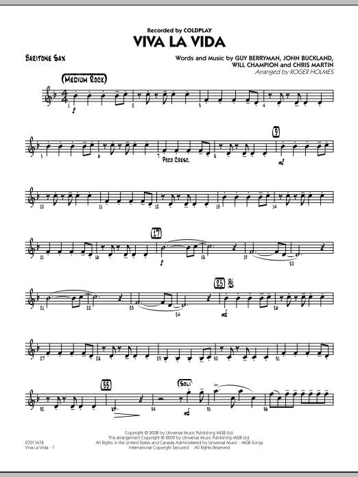 Viva La Vida - Baritone Sax (Jazz Ensemble)