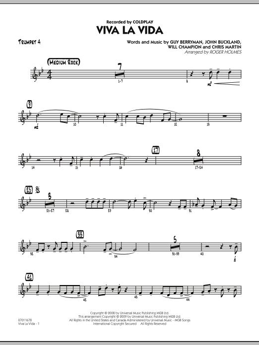 Viva La Vida - Trumpet 4 (Jazz Ensemble)