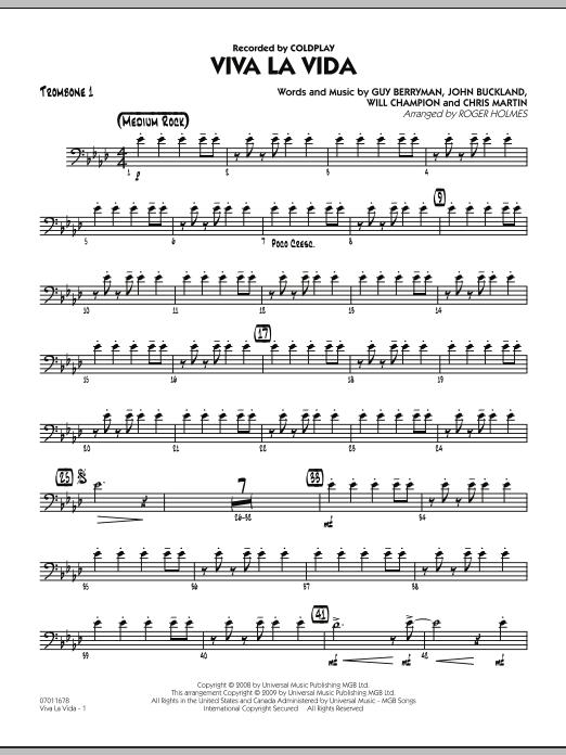 Viva La Vida - Trombone 1 (Jazz Ensemble)