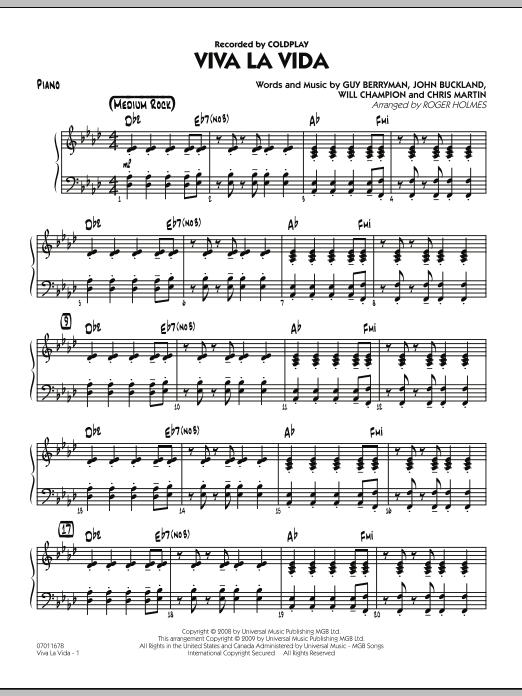 Viva La Vida - Piano (Jazz Ensemble)