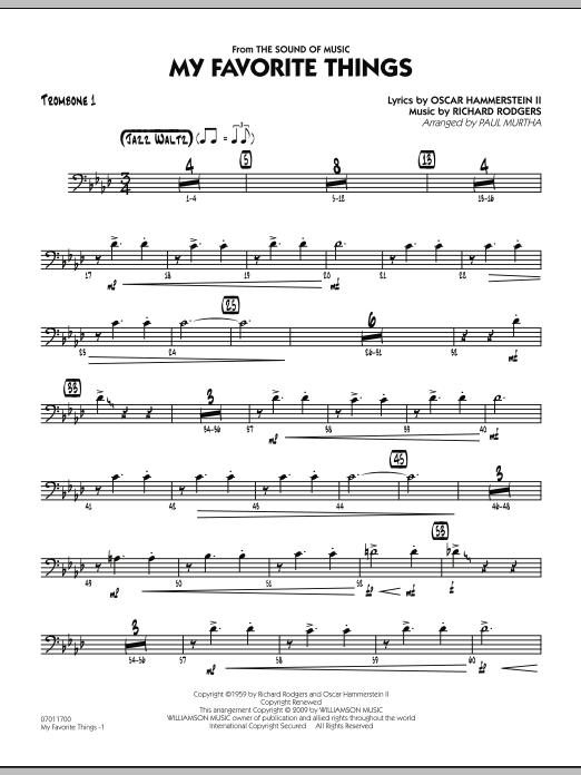My Favorite Things Trombone 1 At Stantons Sheet Music