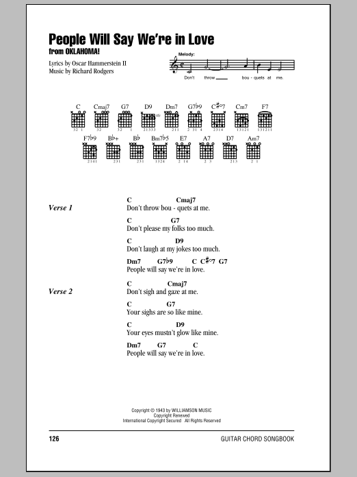 People Will Say We're In Love Sheet Music