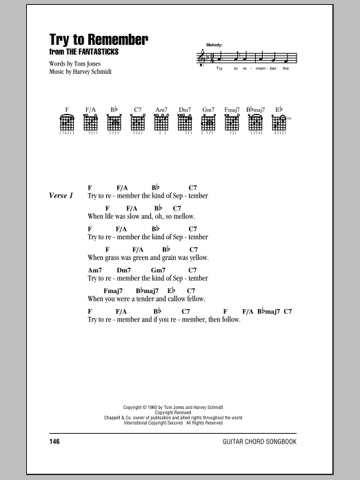 Try To Remember | Sheet Music Direct