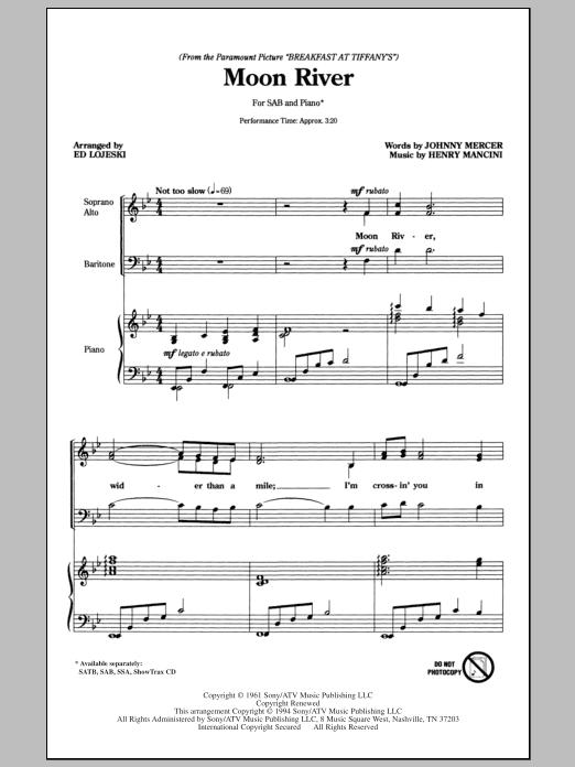 Moon River (SAB Choir)