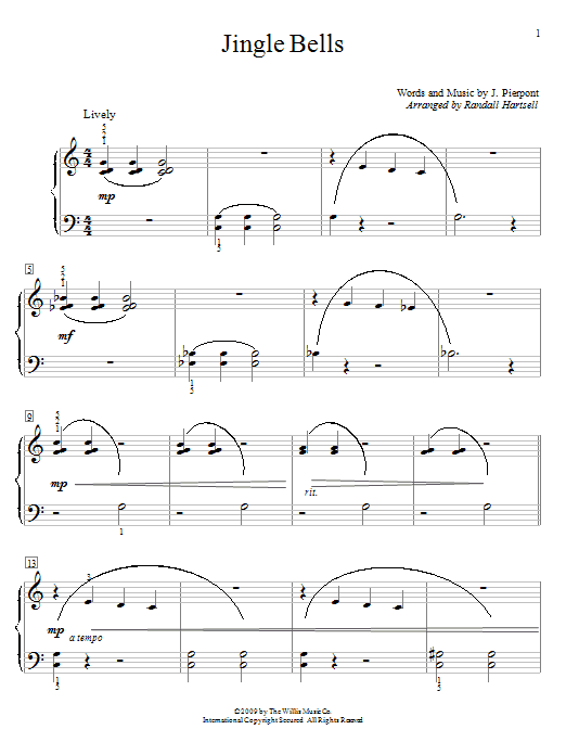 Jingle Bells (Educational Piano)