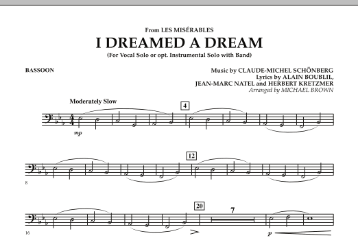 """I Dreamed a Dream (from """"Les Miserables"""") - Bassoon (Concert Band)"""