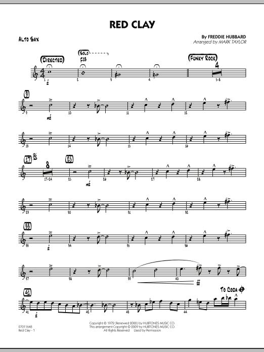 Red Clay - Alto Sax (Jazz Ensemble)