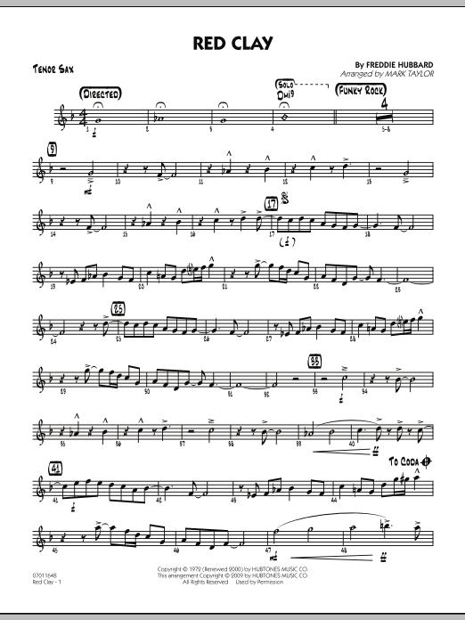 Red Clay - Tenor Sax (Jazz Ensemble)