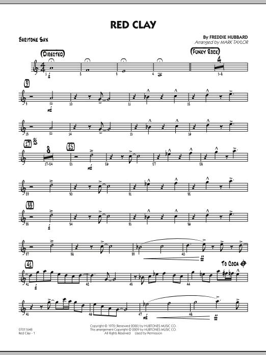 Red Clay - Baritone Sax (Jazz Ensemble)