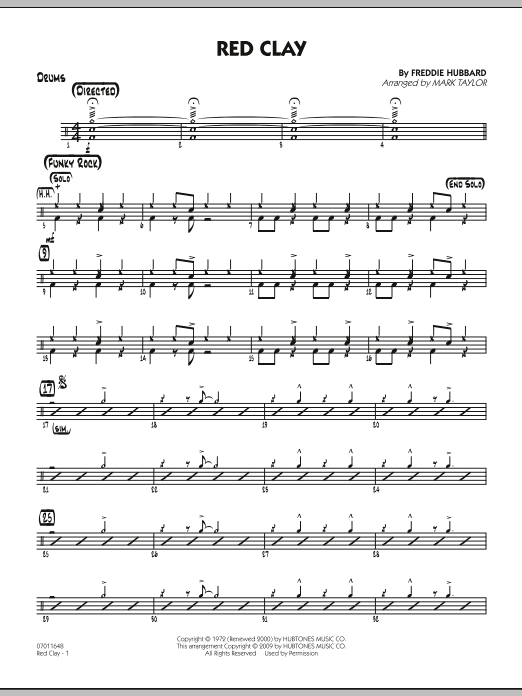 Red Clay - Drums (Jazz Ensemble)