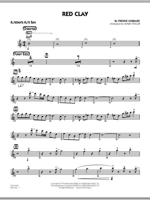 Red Clay - Alternate Alto Sax (Jazz Ensemble)