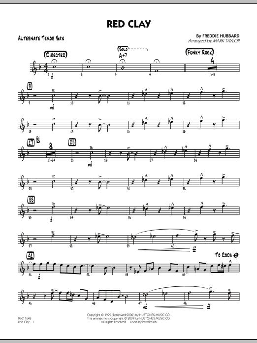 Red Clay - Alternate Tenor Sax (Jazz Ensemble)