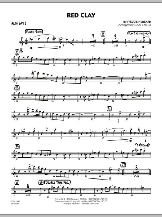 Red Clay - Alto Sax 1 (Jazz Ensemble)