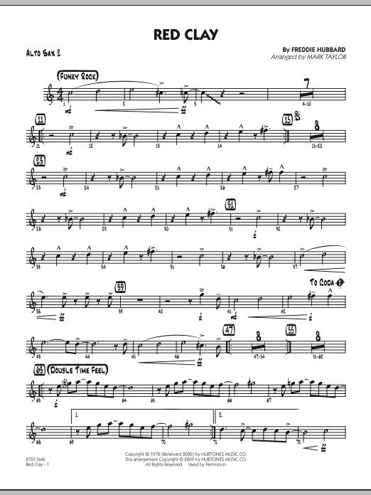 Red Clay - Alto Sax 2 (Jazz Ensemble)