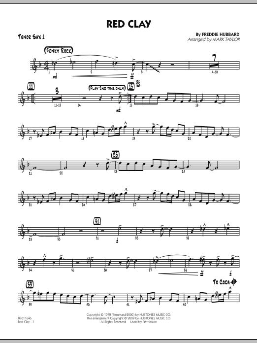 Red Clay - Tenor Sax 1 (Jazz Ensemble)