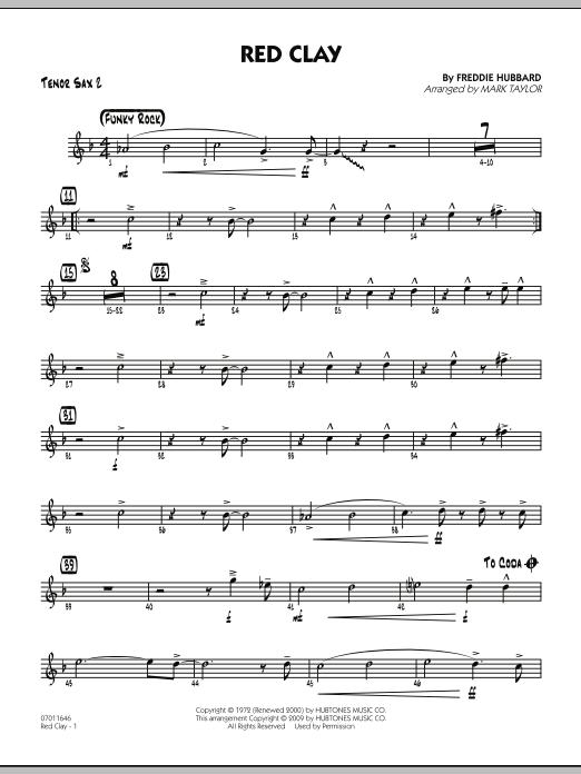 Red Clay - Tenor Sax 2 (Jazz Ensemble)