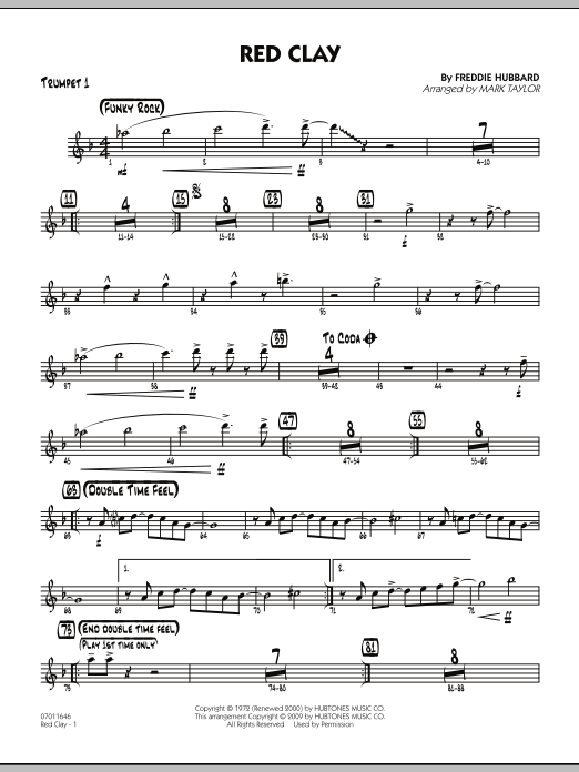 Red Clay - Trumpet 1 (Jazz Ensemble)
