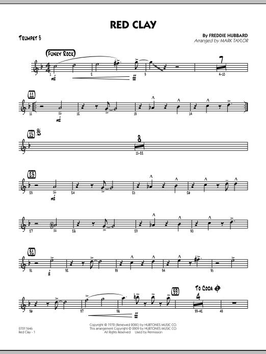 Red Clay - Trumpet 3 (Jazz Ensemble)