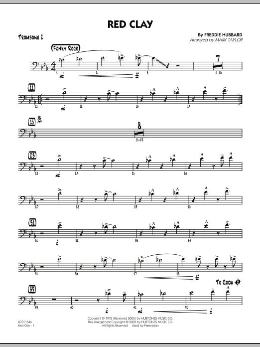 Red Clay - Trombone 2 (Jazz Ensemble)