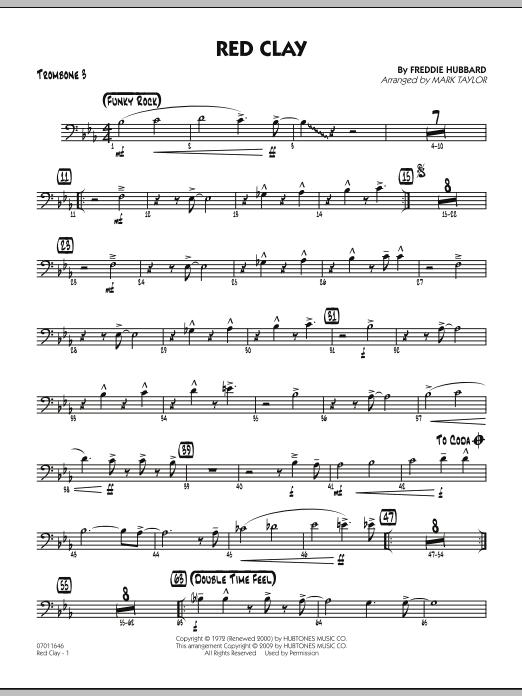 Red Clay - Trombone 3 (Jazz Ensemble)