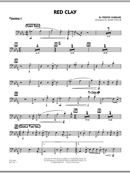 Red Clay - Trombone 4 (Jazz Ensemble)