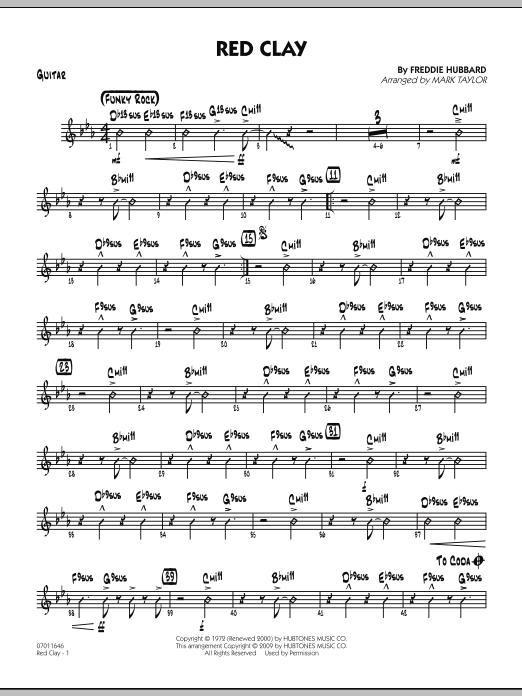 Red Clay - Guitar (Jazz Ensemble)