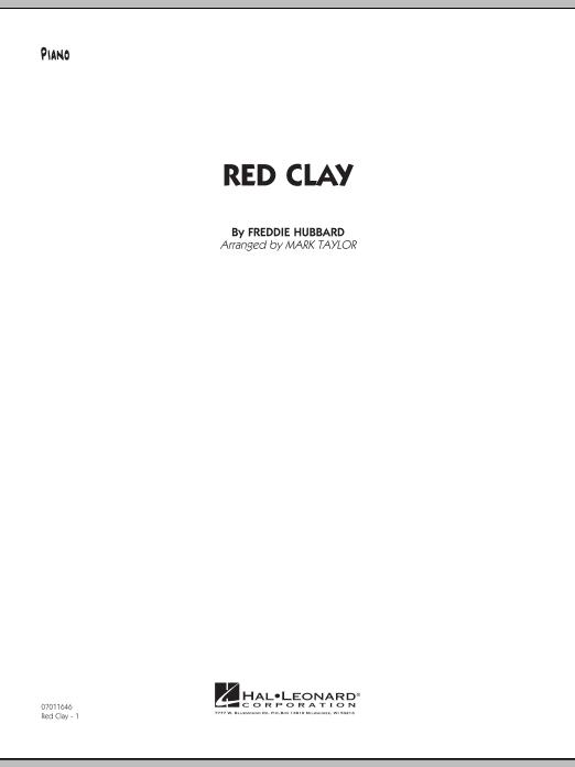 Red Clay - Piano (Jazz Ensemble)