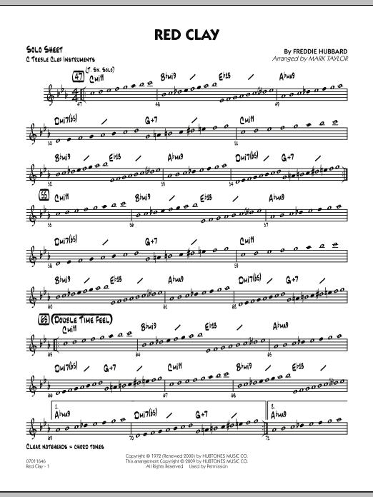 Red Clay - C Solo Sheet (Jazz Ensemble)