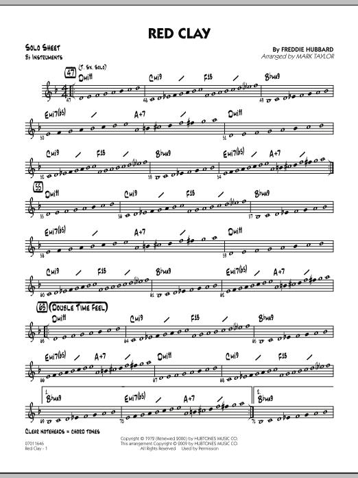 Red Clay - Bb Solo Sheet (Jazz Ensemble)