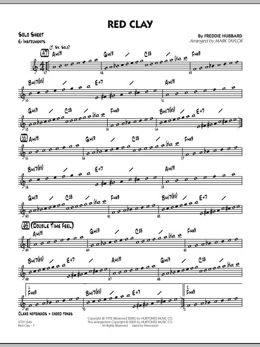 Red Clay - Eb Solo Sheet (Jazz Ensemble)