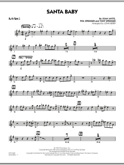 Santa Baby - Alto Sax 1 (Jazz Ensemble)