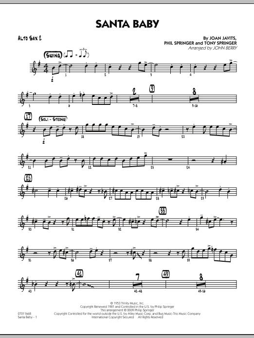 Santa Baby - Alto Sax 2 (Jazz Ensemble)