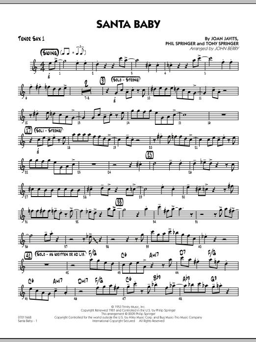 Santa Baby - Tenor Sax 1 (Jazz Ensemble)
