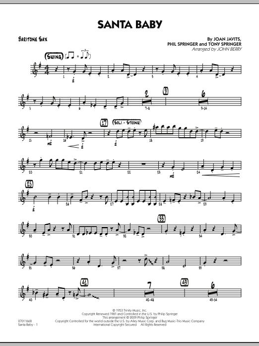 Santa Baby - Baritone Sax (Jazz Ensemble)