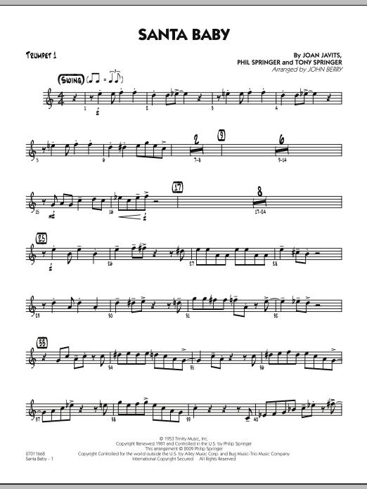 Santa Baby - Trumpet 1 (Jazz Ensemble)