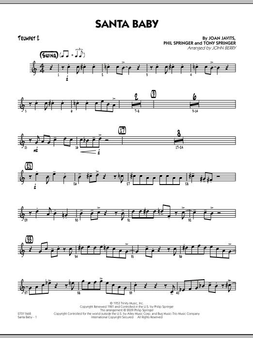 Santa Baby - Trumpet 2 (Jazz Ensemble)