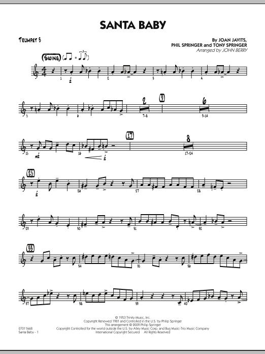 Santa Baby - Trumpet 3 (Jazz Ensemble)