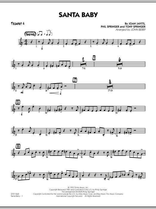 Santa Baby - Trumpet 4 (Jazz Ensemble)