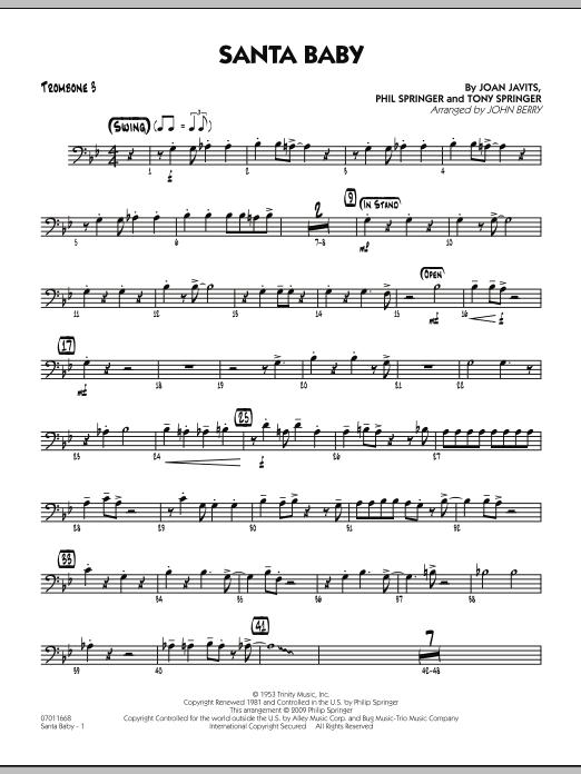 Santa Baby - Trombone 3 (Jazz Ensemble)